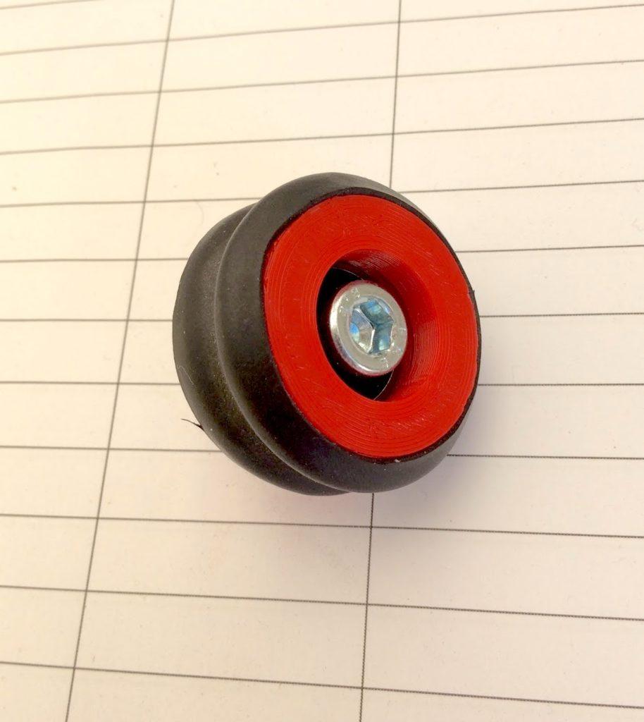 3D-gedruckte Rolle mit Kugellager